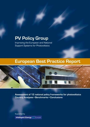 PV Policy Group European Best Practice Report