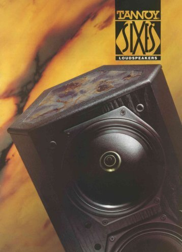 Download here the flyer of the Tannoy Sixes - Hilberink