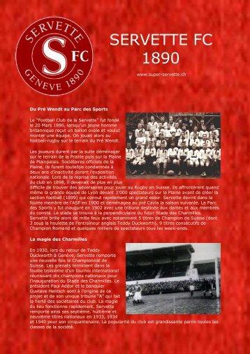 Servette FC - La Légende - Super Servette