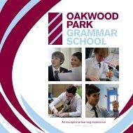 OPGS Prospectus - Oakwood Park Grammar School