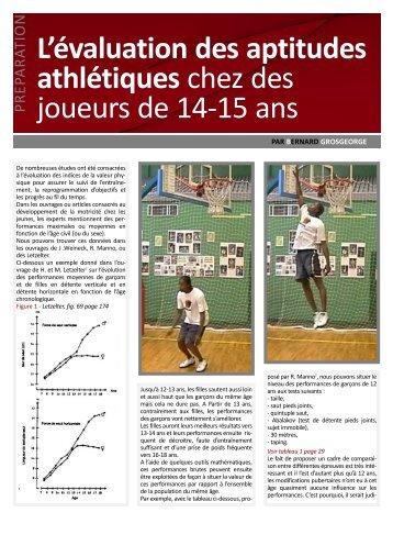 L'évaluation des aptitudes athlétiques chez des joueurs de 14-15 ans