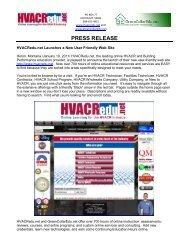 HVACRedu.net Launches a New User Friendly Web Site