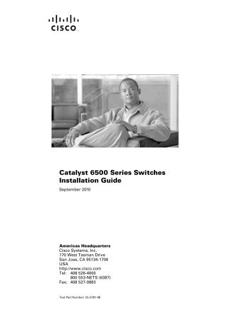 Catalyst 6500 series switch installation guide - Morgus