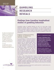 Issue 5, Volume 9 - June / July 2010 - Alberta Gambling Research ...