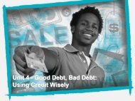 Unit 4 - Good Debt, Bad Debt - Home Page of the Cougars!