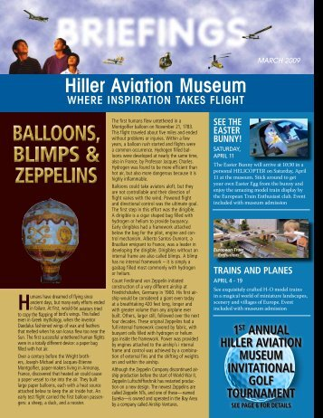 BALLOONS, BLIMPS & ZEPPELINS ... - Hiller Aviation Museum