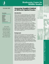 Assessing songbird habitat at different spatial scales - Biodiversity ...