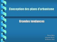 Conception des plans d'urbanisme - Grandes tendances