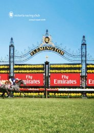 annual report 2008 - Melbourne Cup