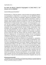 Zusammenfassung - Enzyklopädien, Allgemeinwissen und ...