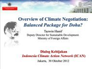 Overview of Climate Negotiation: Balanced ... - IESR Indonesia