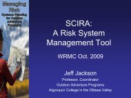 SCIRA: A Risk System Management Tool - NOLS