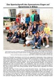Das Spanischprofil des Gymnasiums Engen auf Sprachreise in Bilbao