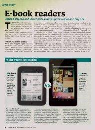 E-Book Readers Comparison - the Brownsburg Public Library!