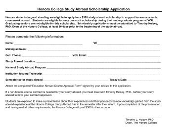 Grove City College Study Abroad Course Approval Request Form