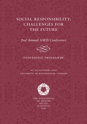 social responsibility: challenges for the future - AMSS(UK)
