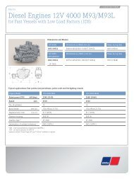 Diesel Engines 12V/16V 4000 M90 - MTU Shop