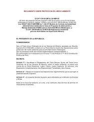 Sobre el Medio Ambiente, D.S N° 016-93-EM - Ministerio de Energía ...