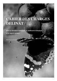 Cahier des charges 2013 - Dc.delinat-institut.org - Delinat-Institut