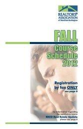 Course Schedule 2012 - REALTORS® Association of Hamilton ...