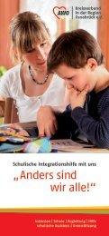 Flyer Schulische Integrationshilfe - AWO Kreisverband in der Region ...
