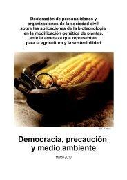 Declaración de personalidades y organizaciones de la ... - Coag