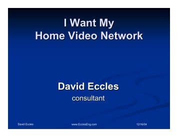 I Want My Home Video Network - SID