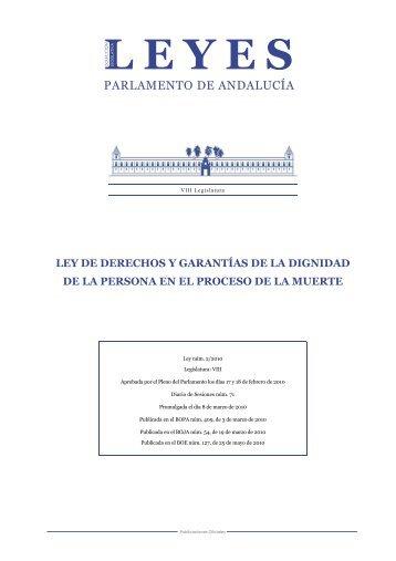 Ley de derechos y garantías de la dignidad de la persona en el ...