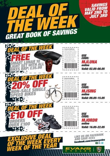 DEAL OF THE WEEK - Evans Cycles