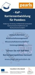 KaP – Programm - an der Potsdam Graduate School - Universität ...