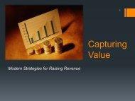 Capturing Value - Raising Revenues - Floodplain Management