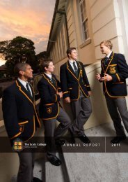 AnnuAl RepoRt 2011 - The Scots College