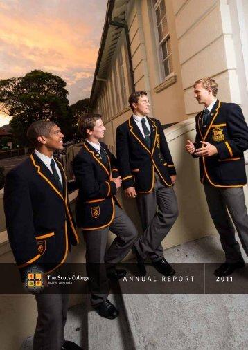 AnnuAl RepoRt 2011 - The Scots College