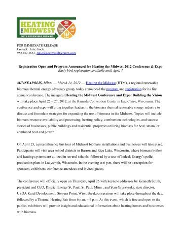 Link to the news release - Heating the Midwest