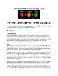 Personal Safety Activities for the Classroom - Suzy Lamplugh Trust