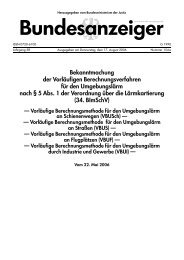 Bundesanzeiger - Bekanntmachung der Vorläufigen - BMU