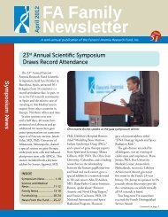 Family Newsletter #51 - Fanconi Anemia Research Fund