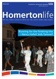 Homertonlife - Winter 2012 - Homerton University Hospital