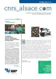 Télécharger le numéro - CNRS Alsace