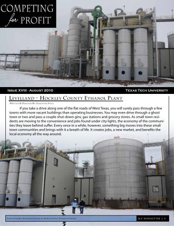 Hockley County Ethanol Plant - Department of Agricultural and ...