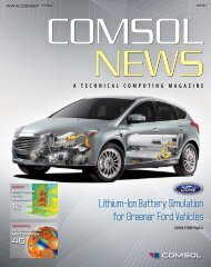 Lithium-Ion Battery Simulation for Greener Ford Vehicles - Comsol