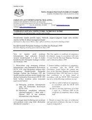 NOTA MAKLUMAT DAN PANDUAN MARIN - Jabatan Laut Malaysia