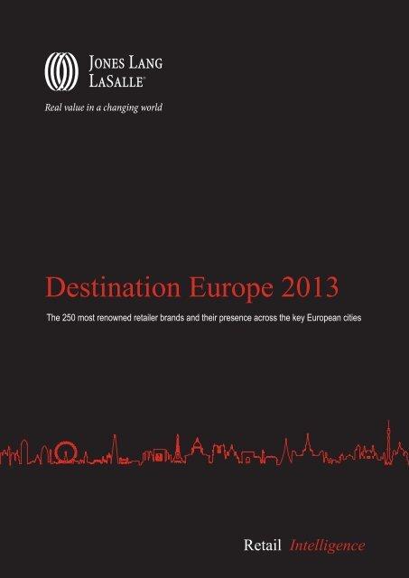 Destination Europe 2013 - Jones Lang LaSalle