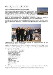 Friedenspilgerfahrt nach Israel und Palästina - Internationaler ...