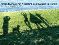 Urgenda, maak van Nederland een duurzame proeftuin