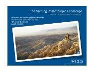 The Shifting Philanthropic Landscape - ACSO