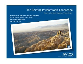The Shifting Philanthropic Landscape - ACSO
