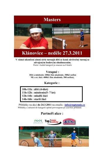 stáhnout termíny - Top Tennis Academy