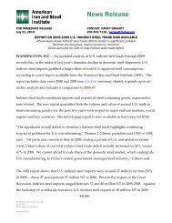 AISI Report on 2008-2009 U S  Indirect Steel Trade Now Available
