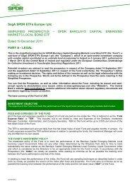 SsgA SPDR ETFs Europe I plc SIMPLIFIED PROSPECTUS – SPDR ...